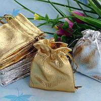 Мешочки парча (вельвет) золото/серебро 7х9 см, 100 шт в уп.