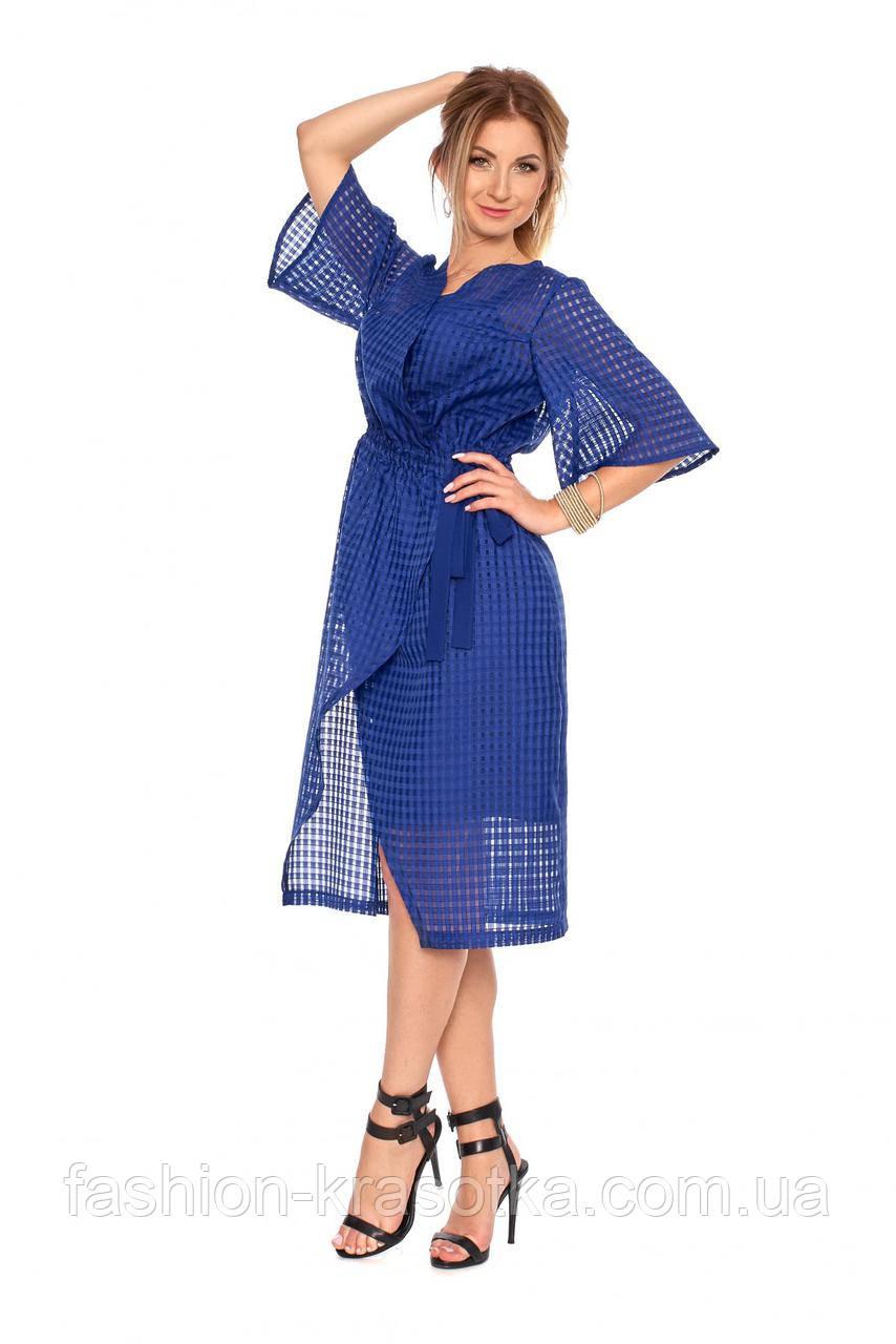 828c1ac25ed Стильное платье на запах с сеткой сверху электрик и мятного цвета. Размеры   42