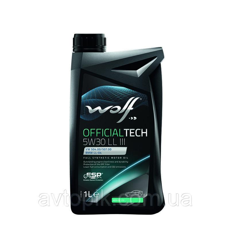 Моторное масло Wolf Officialtech LL III 5W-30 (1л.)