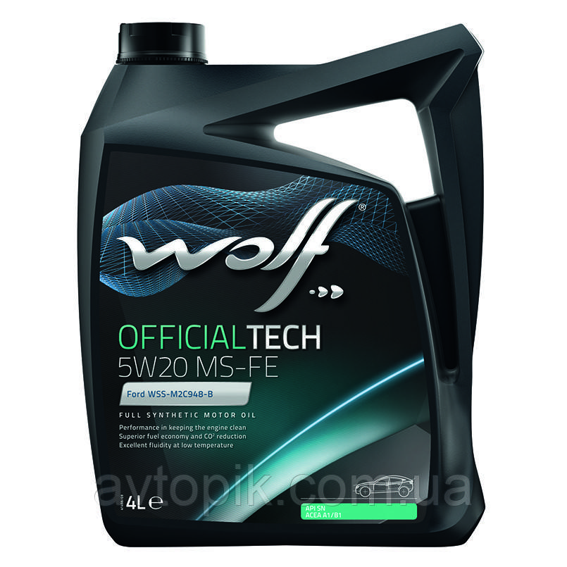 Моторное масло Wolf Officialtech MS-FE 5W-20 (4л.)