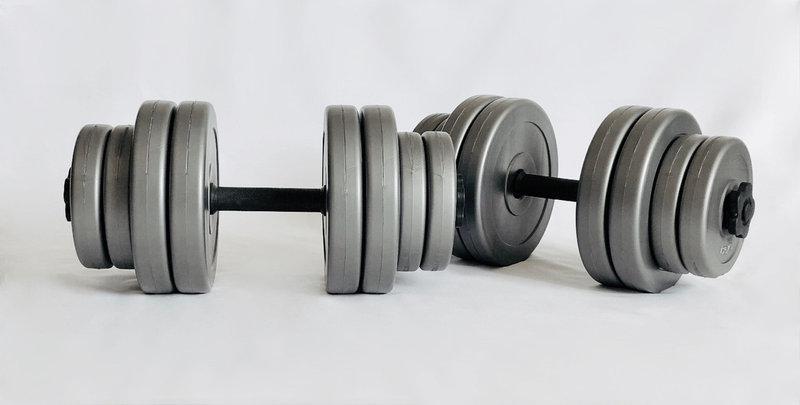 Набор битумных гантелей разборные 2 по 15 кг