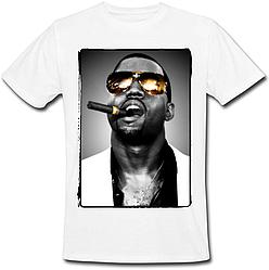 Футболка Kanye West Cigar (белая)