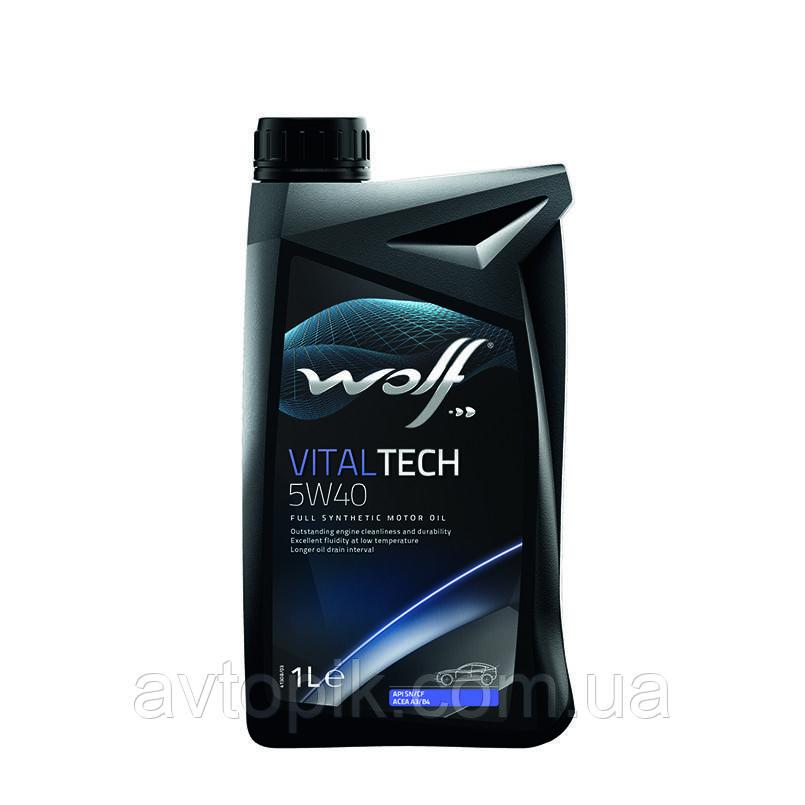 Моторное масло Wolf VitalTech 5W-40 (1л.)