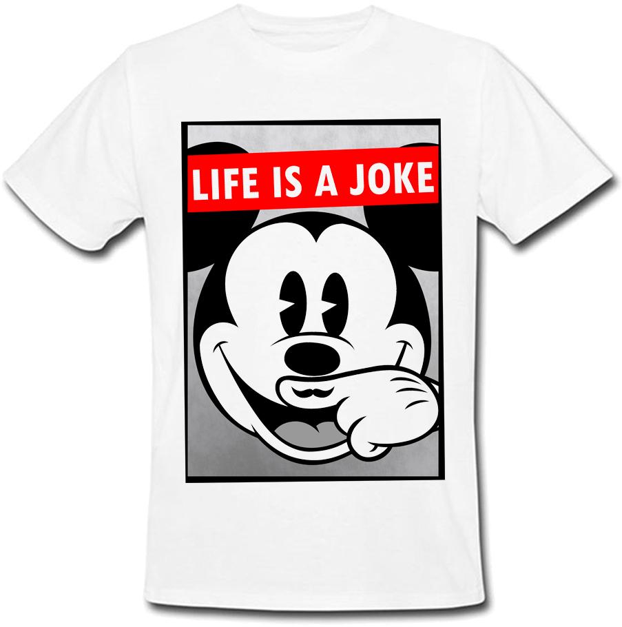Футболка Life Is A Joke (белая)