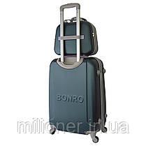 Комплект чемодан + кейс Bonro Smile (средний) изумрудный, фото 2