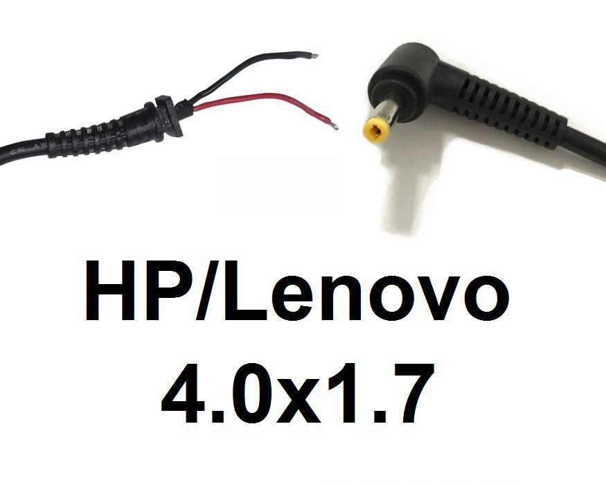 Кабель для блоку живлення ноутбука HP\Lenovo 4.0x1.7 (до 3.5 a) (L-type)
