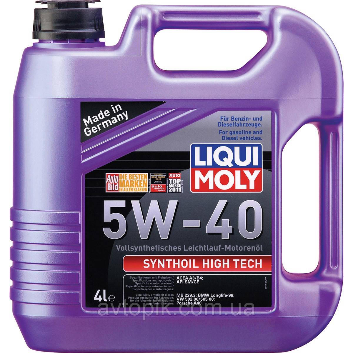 Моторное масло Liqui Moly Synthoil High Tech 5W-40 (4л.)