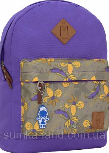 Молодежный фиолетовый рюкзак унисекс Bagland W/R 17 л (цвет 170) размер 38*29*15 см