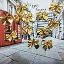 Новогодний декор Бантики (уп.12 шт) золото, фото 2
