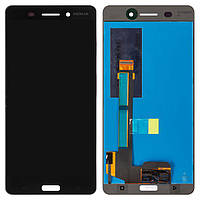 Дисплей (экран) для телефона Nokia 6 Dual Sim (TA-1021, TA-1033) + Touchscreen Original Black