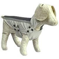 Попона для собак Флис серая + черный мини 20х25+4, фото 1