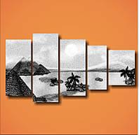 "Модульная картина ""Пустыня черно-белое""  (780х1470 мм) [5 модулей]"