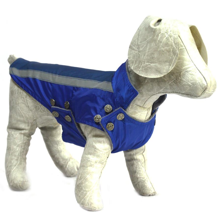 Попона для собак Флис синяя мини 20х25+4