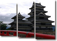 """Картина модульная """"Японский дом""""  (600х840 мм)  [3 модуля]"""