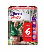 Подгузники-трусики LIBERO Up & GO 6 XL (13-20 кг) 58 шт