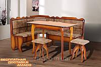 Кухонный уголок Даллас (угол + стол + 2 таб.) (бук)