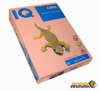 Бумага цветная IQ, А4, 80 г/м2, 500 листов, OPI74, светло-розовый