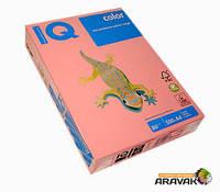 Бумага цветная IQ, А4, 80 г/м2, 500 листов, PI25, розовый
