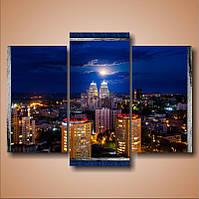 "Модульная картина ""Днепропетровск. Луна над городом""  (100х1390 мм)  [3 модуля]"