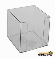 Бокс для бумаги E32601-17, 9х9х9 см, дымчатый