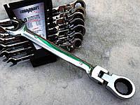 Набор рожково-накидных ключей с трещоткой на кардане 8 шт Euro Craft POLAND Качество