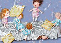 Схема на ткани для вышивки бисером