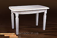 Стол обеденный Кайман белый / патина золота, фото 1