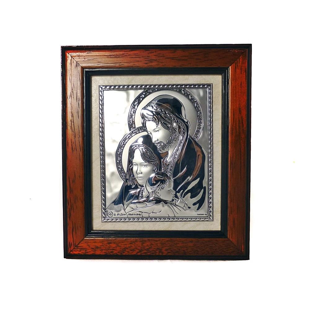 Икона Святая Семья в деревянной рамке