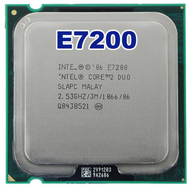 Процессор Intel Core 2 E7200 3 МБ кэш-памяти, тактовая частота 2,53 ГГц, частота системной шины 1066 МГц