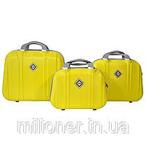 Комплект чемодан + кейс Bonro Smile (средний) желтый, фото 2