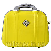 Комплект чемодан + кейс Bonro Smile (средний) желтый, фото 3