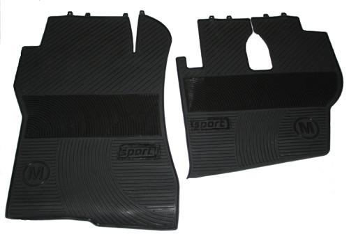 Килимки в салон Actros чорні для вантажівок(6822)