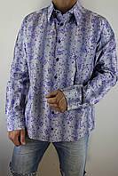 Сорочка чоловіча НЛ 19 сіро-фиолетвая