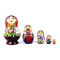 Матрёшка 5-х девочка украинка 8.5 см цена за 1шт.