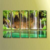 """Картина модульная """"Водопад""""  (1270х790 мм)  [10 модулей]"""