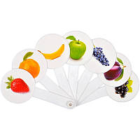 Учебный веер: цвета+фрукты  (Козлов)