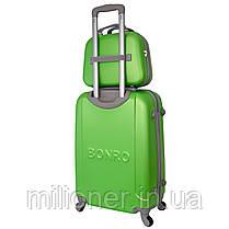 Комплект чемодан + кейс Bonro Smile (средний) салатовый, фото 2