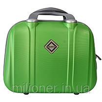 Комплект чемодан + кейс Bonro Smile (средний) салатовый, фото 3