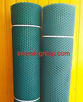 Заборы садовые , сетки пластиковые. Ромб. Ячейка 20х20 мм, рул. 1х30 м (темно-зеленая).