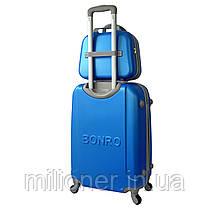 Комплект чемодан + кейс Bonro Smile (средний) светло синий, фото 2