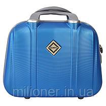 Комплект чемодан + кейс Bonro Smile (средний) светло синий, фото 3