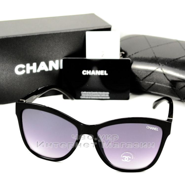 Женские солнцезащитные очки Chanel Бабочка изысканная классическая модель Шанель люкс реплика