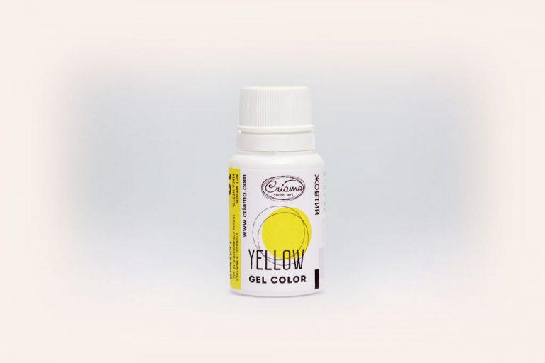Гелевый краситель Желтый ,Criamo 10г