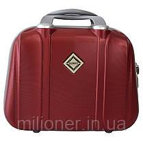 Комплект чемодан + кейс Bonro Smile (средний) бордовый, фото 3