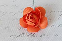 Декоративные цветы камелии диаметр 5 см, оранжевого цвета), фото 1
