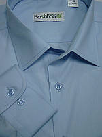 Мужская рубашка голубого цвета