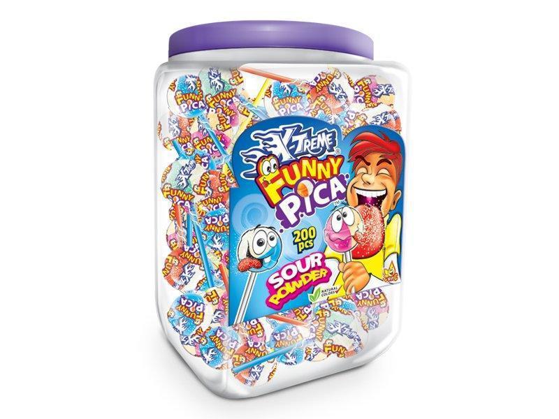 Леденец с кислым сахарным покрытием X-TREME® Funny Pica