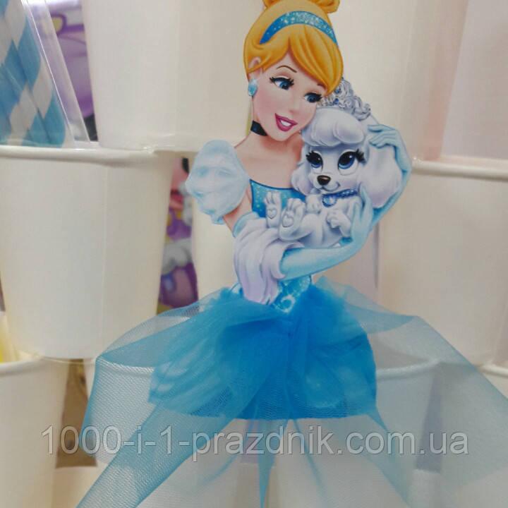 Топпер Принцесса с собачкой в голубом