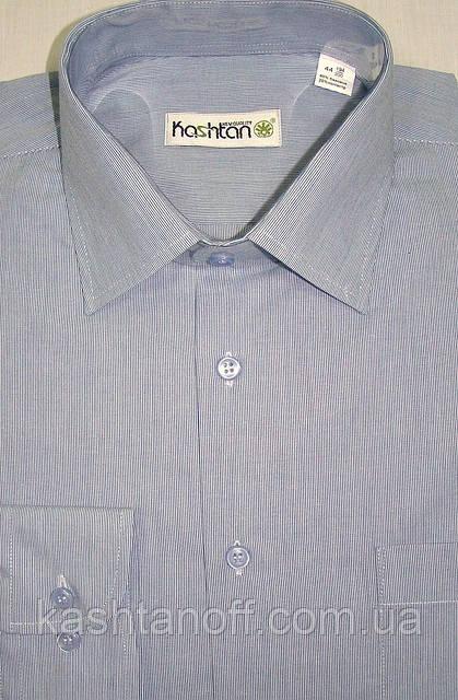 Мужская рубашка серо-голубого цвета