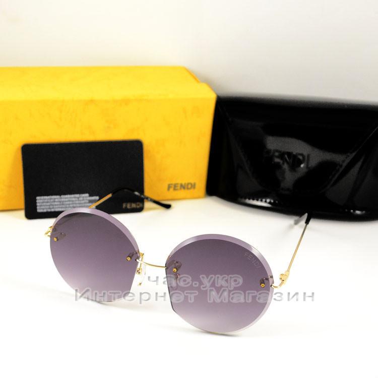 Женские солнцезащитные очки Fendi Круглые оправа металлическая современный безупречный стиль Фенди реплика